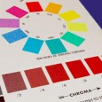 """The Munsell Chroma Scale (bottom) served as the """"limbs"""" on Munsell's three-dimensional color tree and complete the sphere in Munsell's three-dimensional color order system."""