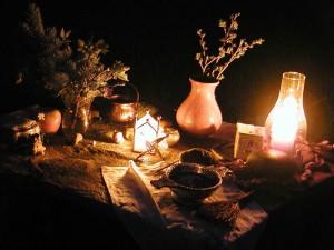 altar at night