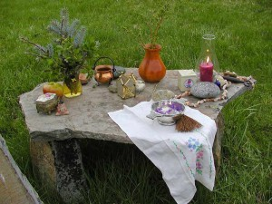 altar in daylight