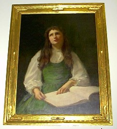 oil painting of helen keller by albert h munsell