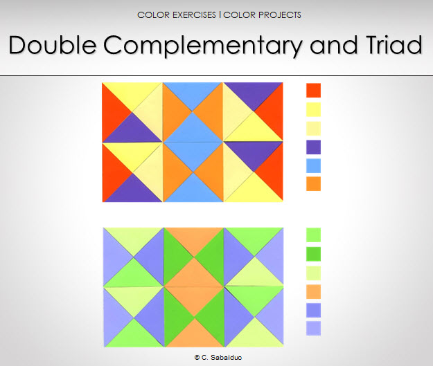 color application double complementary and triad