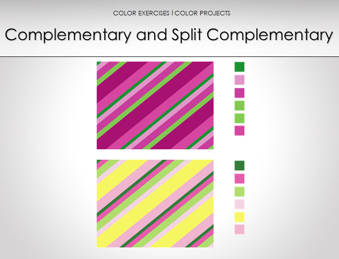color characteristics complementary and split complementary