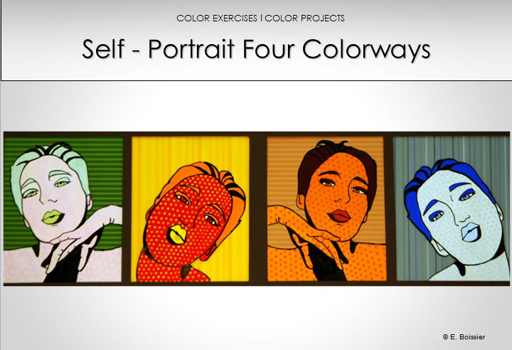 color education self-portrait four colorways