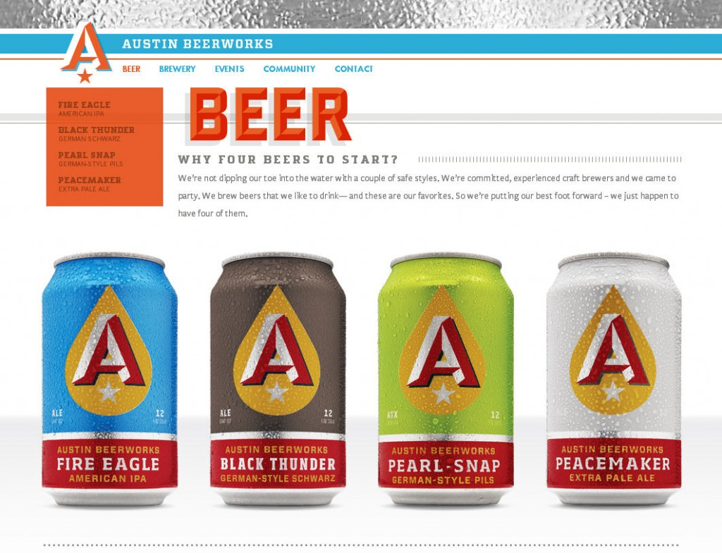 colorful beer website