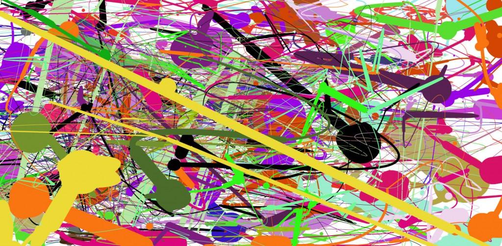 colorful jackson pollock creation