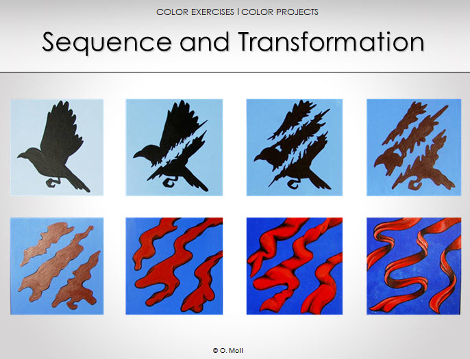 teaching color sequence and transformation