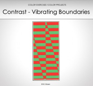 teaching color theory contrast vibrating boundaries