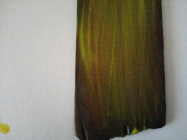 painting treated wood with yellow paint