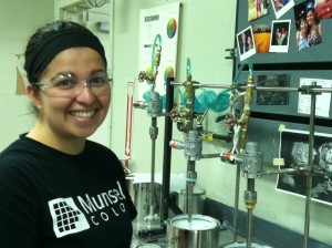 Munsell Colro Lab expert Laura Weeks in lab working with Munsell Color System
