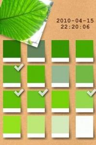 Screenshot from Irodori mobile color identifier app.