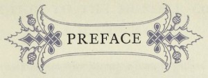 The Preface chapter heading with decorative embellishment from the book on Munsell Color Theory, A Grammar of Color.
