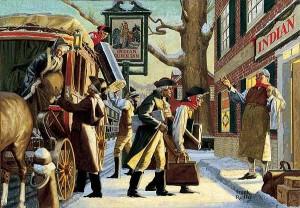 Painting by Frank J Reilly, Artist, Illustrator & Teacher - Philadelphia Blended Whiskey (1947)