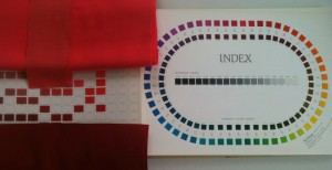 The Munsell Book of Color index featuring an array of hues from reds to blues