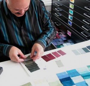 John Kitchener pulls together Munsell color swatches to create a style guide for a client