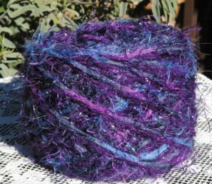 Designer knitting yarn cakes for sale by Blackberry Bear yarn shop on Etsy.