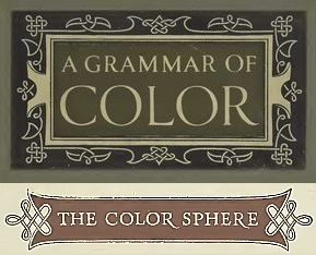 "Cover Plate for ""A Grammar of Color"" and ""The Color Sphere"" heading title - Image from A.H. Munsell's Introduction - The Color Sphere"