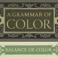 "Book Cover Plate for ""A Grammar of Color"" and ""Balance of Color"" heading title - Image from A.H. Munsell's Introduction - Balance of Color"