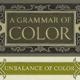 "The book Cover Plate for ""A Grammar of Color"" and heading title, ""Balance of Color"" from A.H. Munsell's Introduction."