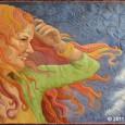 Windblown, an award winning original quilt by Maria Elkins.