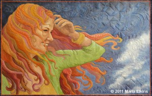 Windblown, an award winning original quilt by Maria Elkins.