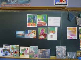 Art design projects for middle schoolers at the Rhinebeck Science Foundation Discovery Festival.