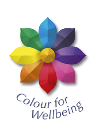 Colorful flower logo for Colour for Wellbeing
