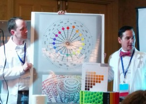 Artists Steve Linberg and Graydon Parrish, at their presentation of The Munsell Color System for Artists at TRAC 2014.