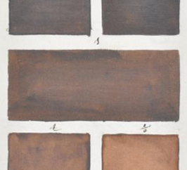 5 swatches of various shades of chocolate colors