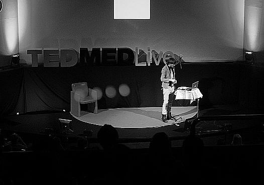 Neil Harbisson presenting at TEDMED Live.