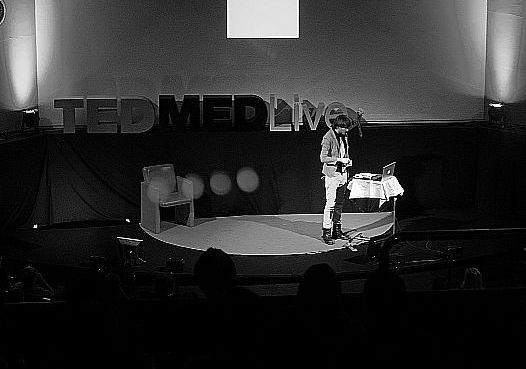 Neil Harbisson presenting at TEDMED Live.