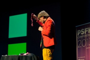 Neil Harbisson speaking at the PSFK Conference 2013.