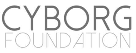 The Cyborg Foundation Logo, a nonprofit organization created by cyborg activist Neil Harbisson.