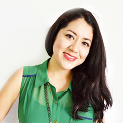 A portrait of Surface & Print Designer Elba Valverde