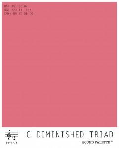Neil Harbisson's Sound palette: C diminished triad.