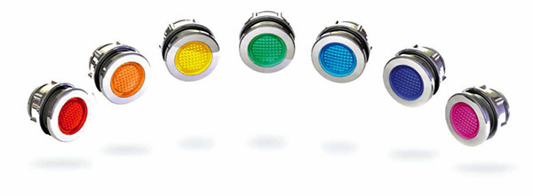7 lights in a variety of colors