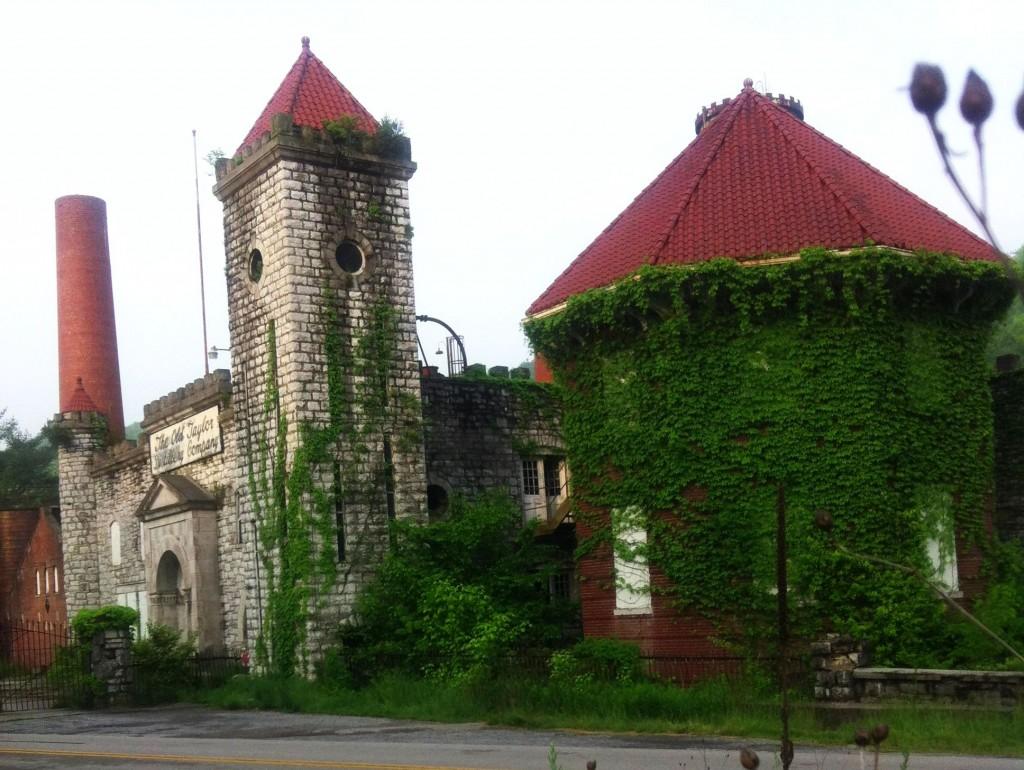 Old Taylor Distillery ruins in Kentucky.
