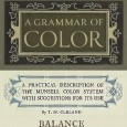 Book plate for A Grammar of Color book, Balance section.