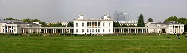 The Queen's House from the South showing colours for a restoration project