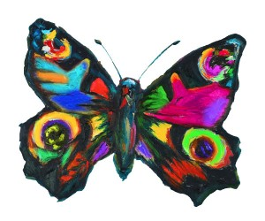 Painting of a butterfly by Concetta Antico