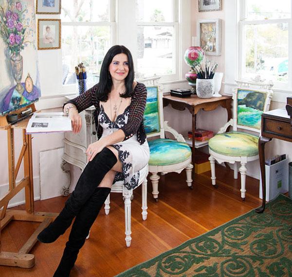 Concetta Antico in her studio
