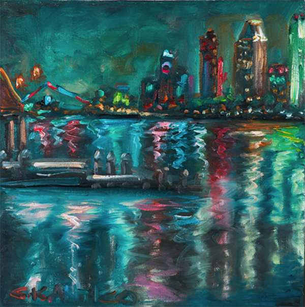 Americas Finest City Lights a painting by Concetta Antico