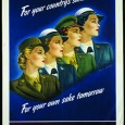 An Armed Services poster showing the women's new uniform colors