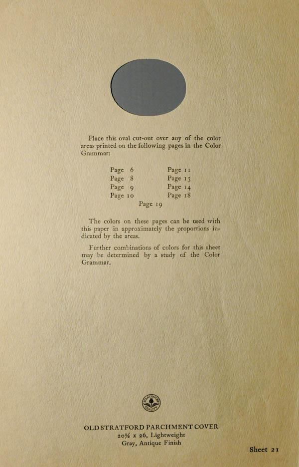 Grammar of Color Sheet Paper #21