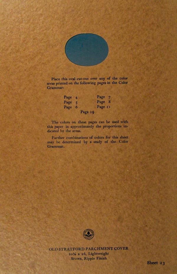 Grammar of Color Sheet Paper #23
