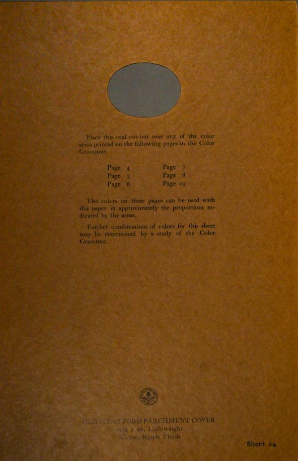 Grammar of Color Sheet Paper #2