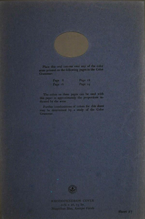 Grammar of Color Sheet Paper #27