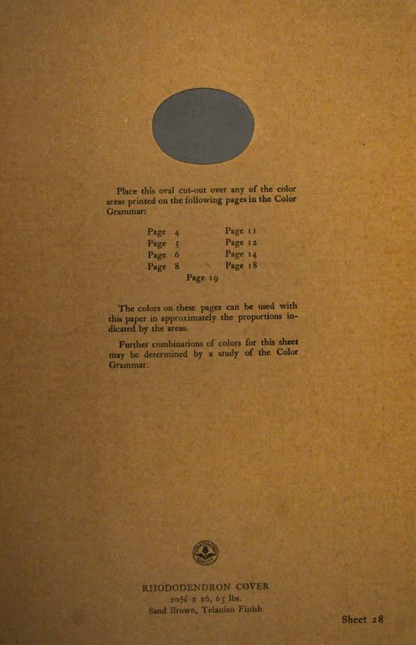 Grammar of Color Sheet Paper #28