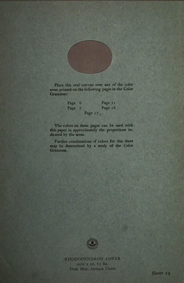 Grammar of Color Sheet Paper #29