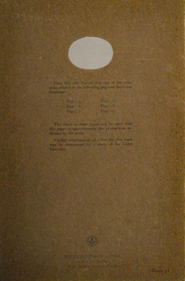 Grammar of Color Sheet Paper #31