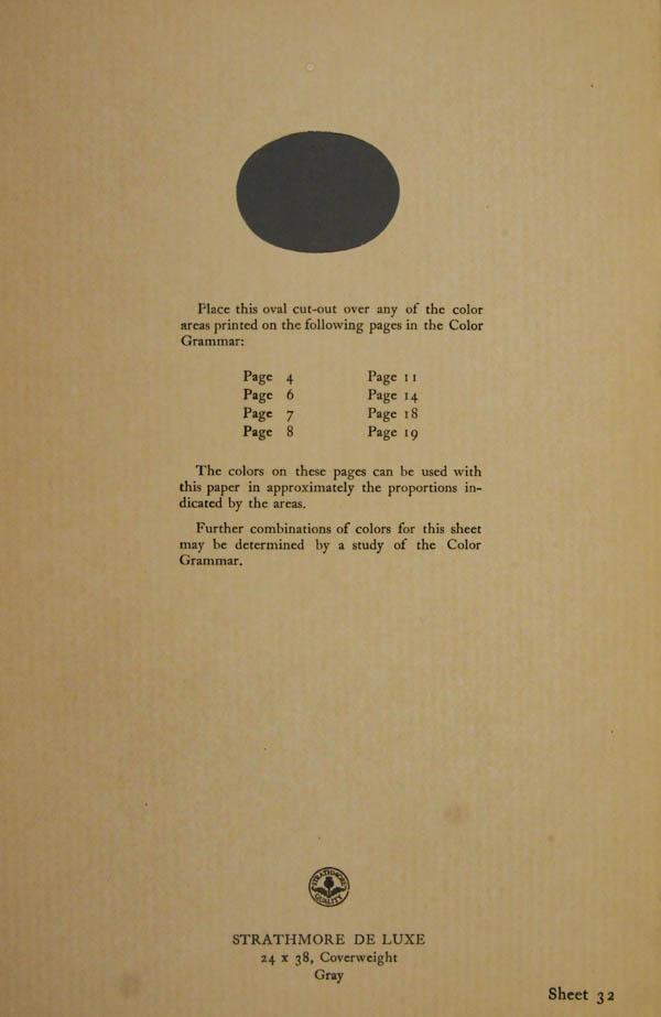 Grammar of Color Sheet Paper #32